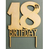 18TH BIRTHDAY CAKE TOPPER - CT144