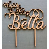 HAPPY BIRTHDAY CUSTOM NAME CAKE TOPPER - CT152