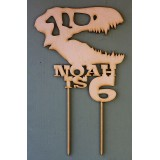 CUSTOM DINOSAUR NAME IS AGE CAKE TOPPER - CT158