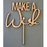 MAKE A WISH CAKE TOPPER - CT154