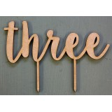 THREE (WORD) CAKE TOPPER - CT164