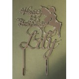 CUSTOM NAME WITH FAIRY BIRTHDAY CAKE TOPPER - CT165