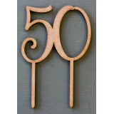 NUMBER 50 CAKE TOPPER - CT186
