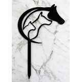 CAT, DOG & HORSE CAKE TOPPER - CT268