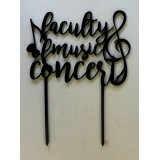FACULTY OF MUSIC CONCERT CAKE TOPPER - CT266