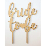 BRIDE TO BE HEART CAKE TOPPER - CT078
