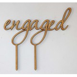 ENGAGED CAKE TOPPER - CT083