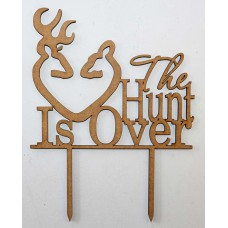 THE HUNT IS OVER CAKE TOPPER - CT093
