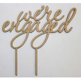 WE'RE ENGAGED 2 CAKE TOPPER - CT089