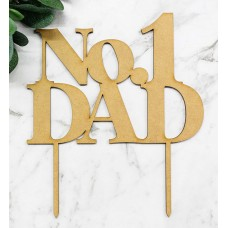 NO. 1 DAD CAKE TOPPER - CT277