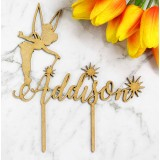 CUSTOM TINKERBELL NAME CAKE TOPPER - CT232