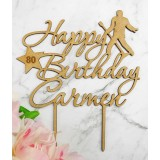 CUSTOM ELVIS HAPPY BIRTHDAY NAME & AGE CAKE TOPPER - CT237