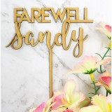 FAREWELL CUSTOM NAME CAKE TOPPER - CT270
