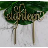 EIGHTEEN CAKE TOPPER - CT239