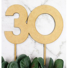 NUMBER 30 BLOCK CAKE TOPPER - CT242