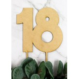 NUMBER 18 BLOCK CAKE TOPPER - CT240