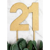 NUMBER 21 BLOCK CAKE TOPPER - CT241