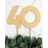 NUMBER 40 BLOCK CAKE TOPPER - CT243