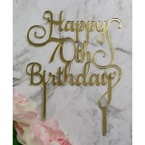 HAPPY 70TH BIRTHDAY CAKE TOPPER - CT250