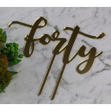 FORTY CAKE TOPPER - CT248