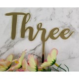 THREE CAKE TOPPER - CT256