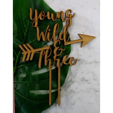 YOUNG WILD & THREE CAKE TOPPER - CT255