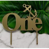 ONE ANCHOR CAKE TOPPER - CT261
