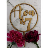 CUSTOM NAME IS AGE CIRCLE CAKE TOPPER - CT260