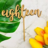 EIGHTEEN WORD 2 CAKE TOPPER - CT281