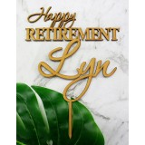 CUSTOM HAPPY RETIREMENT CAKE TOPPER - CT274