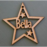 CUSTOMISED CHRISTMAS STAR DECORATION - M374