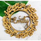 CUSTOMISED CHRISTMAS WREATH DECORATION - M391