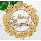 MERRY CHRISTMAS WREATH - M398