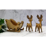 MINI REINDEERS WITH SLEIGH - M419