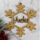 CUSTOMISED CHRISTMAS SNOWFLAKE DECORATION - M393