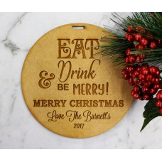 CUSTOMISED EAT DRINK & BE MERRY TAG - M392