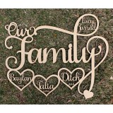 OUR FAMILY WALL PLAQUE - FAM015