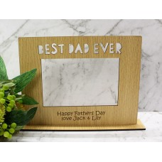 BEST DAD EVER PHOTO FRAME - M727