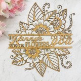 IF CUSTOM TITLE WERE FLOWERS I'D PICK YOU FLORAL MONOGRAM - M739