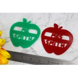 TEACHERS APPLE COASTER - T005