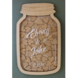 MASON JAR GUEST BOOK - GB004