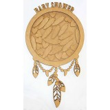 BABY SHOWER DREAMCATCHER GUEST BOOK - GB001