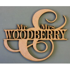 CUSTOMISED MR & MRS MONOGRAM - M608