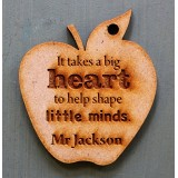 IT TAKES A BIG HEART TO HELP SHAPE LITTLE MINDS KEY RING - M713