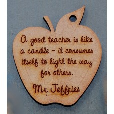 A GOOD TEACHER IS LIKE A CANDLE KEY RING - M711