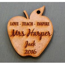 LOVE TEACH INSPIRE CUSTOM KEY RING - M714