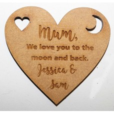 MUM WE LOVE YOU TO THE MOON AND BACK KEY RING - M710