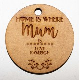 HOME IS WHERE MUM IS KEY RING - M709