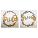 BRIDE AND GROOM CHAIR SIGNS - M613