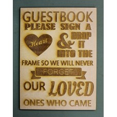 GUESTBOOK SIGN - M612
